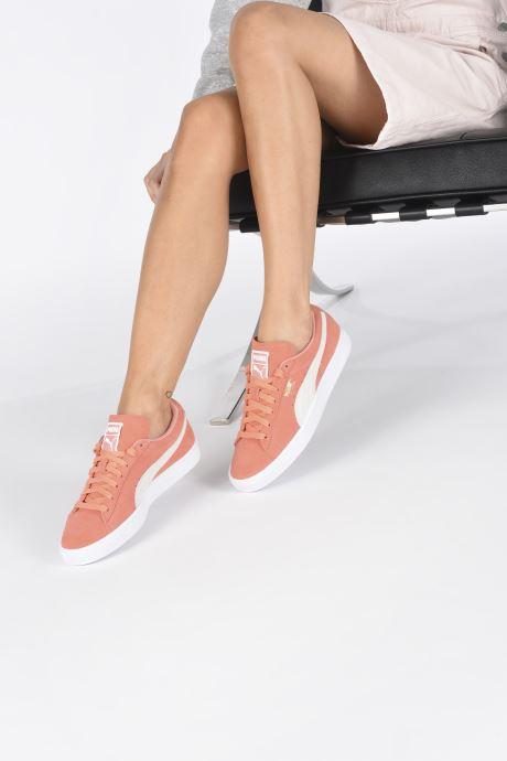 Sneaker Puma Suede Classic Wn's orange ansicht von unten / tasche getragen