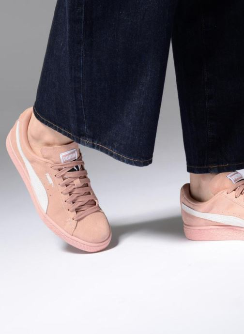 Sneaker Puma Suede Classic Wn's rosa ansicht von unten / tasche getragen