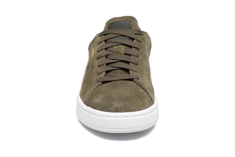 Baskets Puma Suede Classic Wn's Vert vue portées chaussures