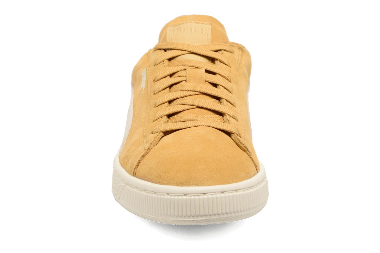 Sneaker Puma Suede Classic Wn's gelb schuhe getragen