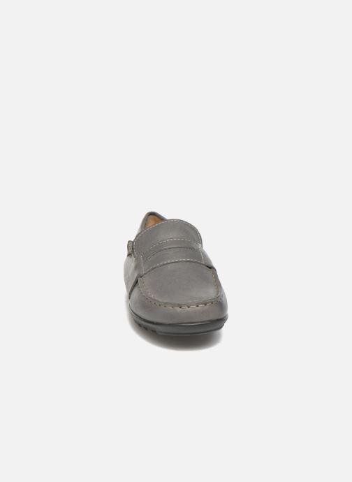 Mocassins Geox J Fast F J34G5F Gris vue portées chaussures