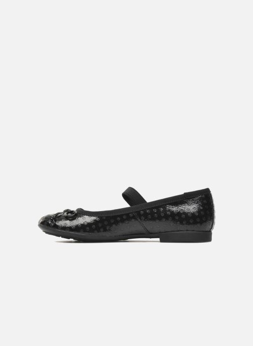 Ballet pumps Geox J PLIE' B Black front view