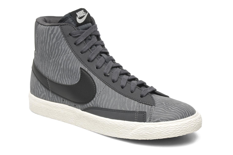 separation shoes c6817 4f6f2 discount baskets nike wmns blazer mid suede print gris vue détail paire  85f27 002ac