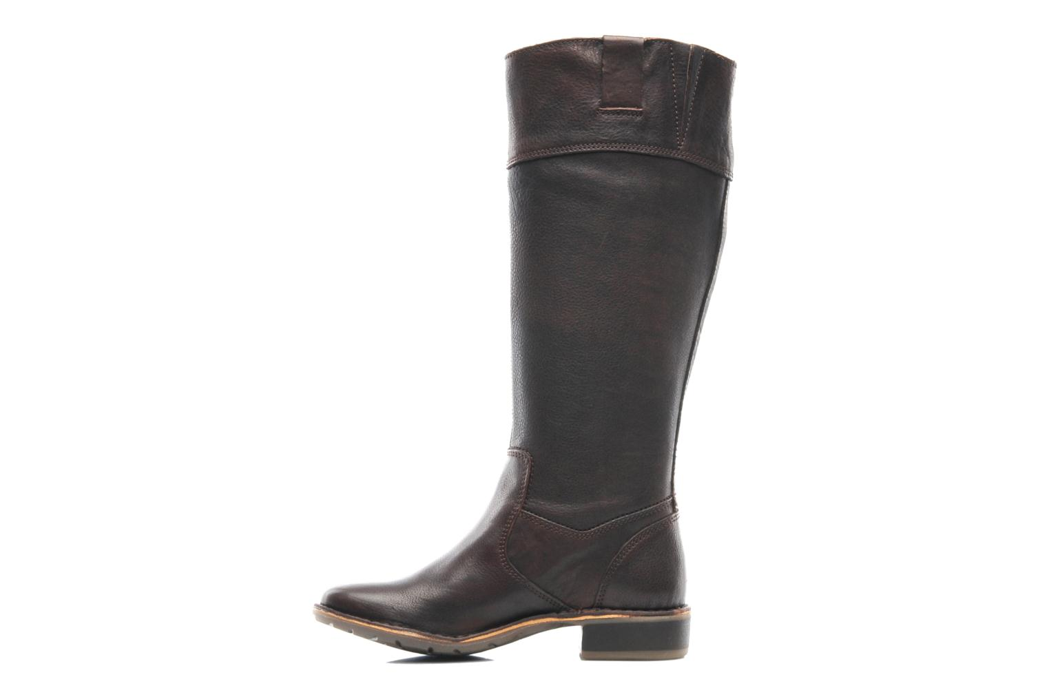 Bottes Kickers GROOVE UP Marron vue face