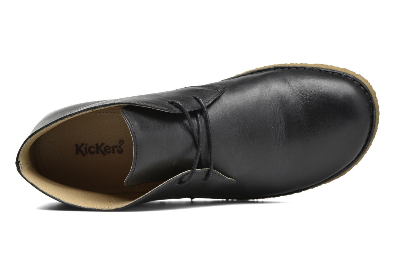 Chaussures à lacets Kickers HOBBOBO Noir vue gauche