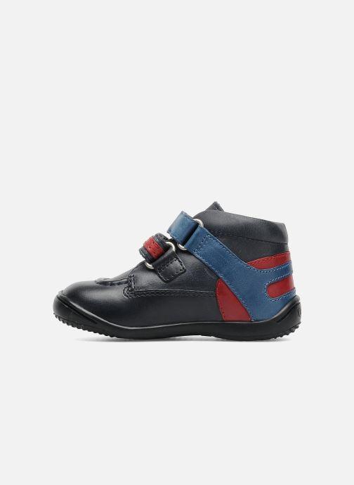 Chaussures à scratch Kickers GERMAN Bleu vue face