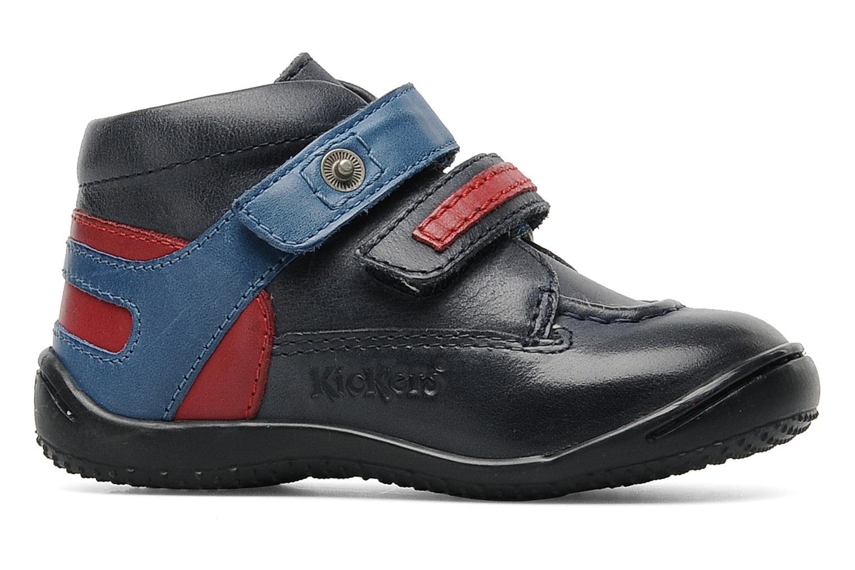 Chaussures à scratch Kickers GERMAN Bleu vue derrière