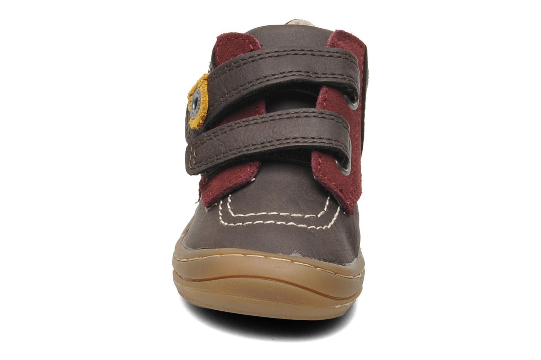 Chaussures à scratch Kickers ZEPHYR Marron vue portées chaussures