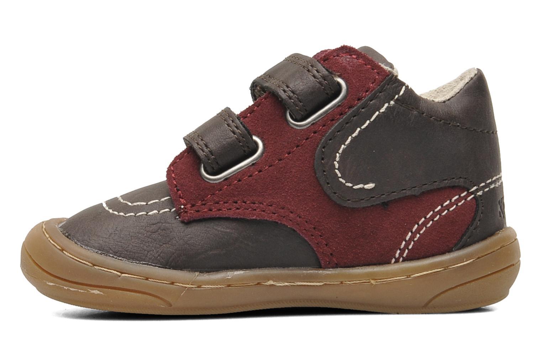 Chaussures à scratch Kickers ZEPHYR Marron vue face