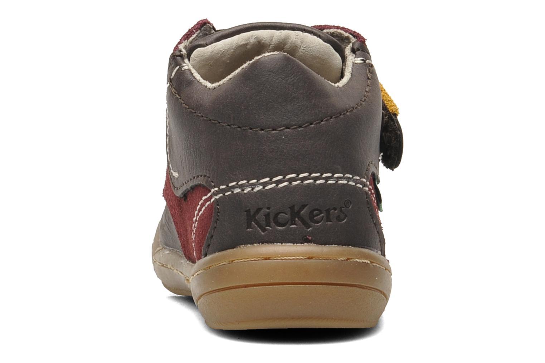 Chaussures à scratch Kickers ZEPHYR Marron vue droite