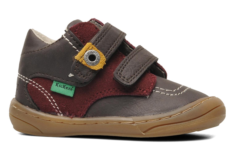 Chaussures à scratch Kickers ZEPHYR Marron vue derrière