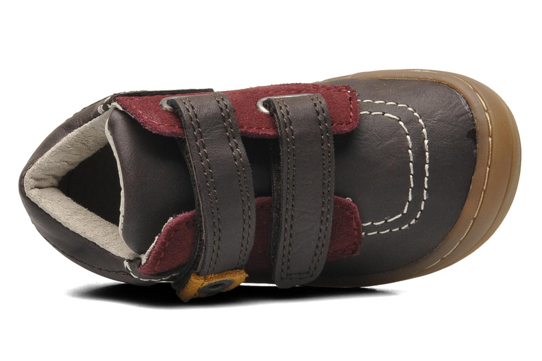 Chaussures à scratch Kickers ZEPHYR Marron vue gauche