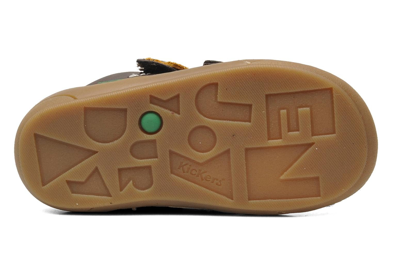 Chaussures à scratch Kickers ZEPHYR Marron vue haut