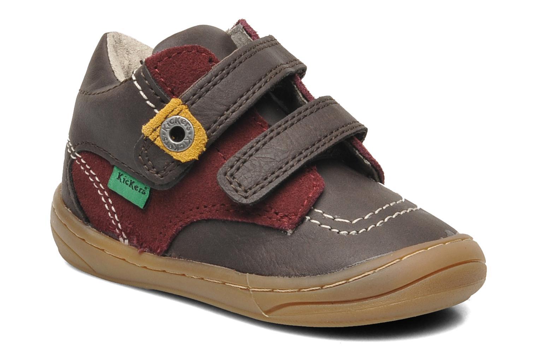 Chaussures à scratch Kickers ZEPHYR Marron vue détail/paire