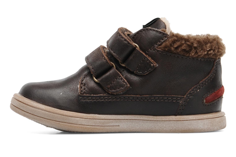 Chaussures à scratch Kickers TALKER Marron vue face