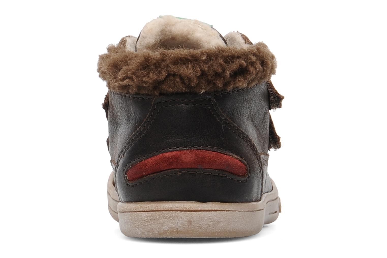 Chaussures à scratch Kickers TALKER Marron vue droite