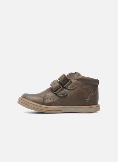 Schoenen met klitteband Kickers Taxi Bruin voorkant