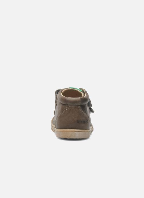 Chaussures à scratch Kickers Taxi Marron vue droite