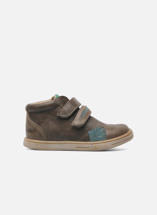 Schoenen met klitteband Kickers Taxi Bruin achterkant