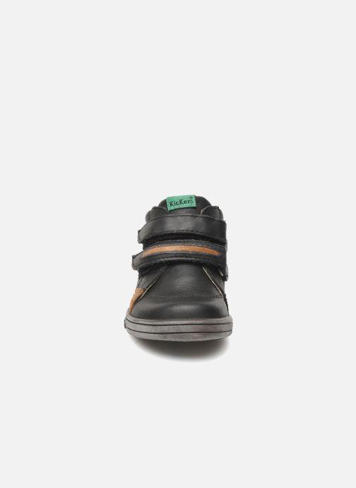 Schoenen met klitteband Kickers Taxi Zwart model
