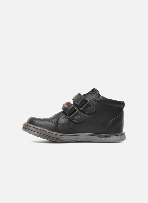 Chaussures à scratch Kickers Taxi Noir vue face