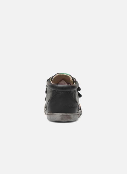 Chaussures à scratch Kickers Taxi Noir vue droite