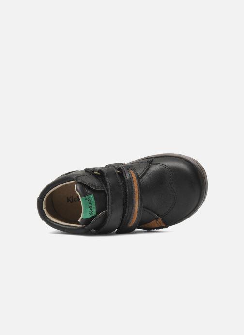 Schoenen met klitteband Kickers Taxi Zwart links