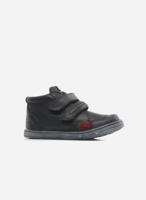 Chaussures à scratch Kickers Taxi Noir vue derrière