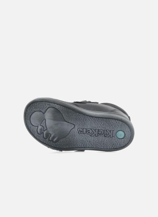 Chaussures à scratch Kickers Taxi Noir vue haut