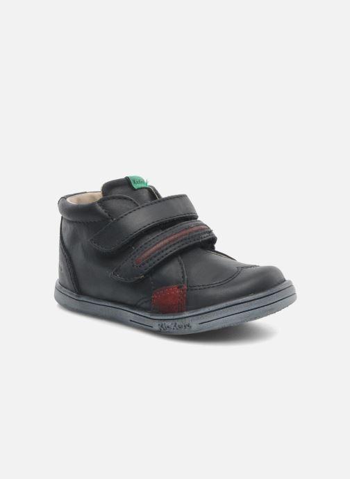 Chaussures à scratch Kickers Taxi Noir vue détail/paire