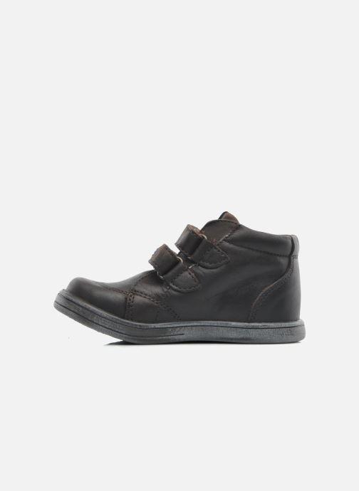 Chaussures à scratch Kickers Taxi Marron vue face