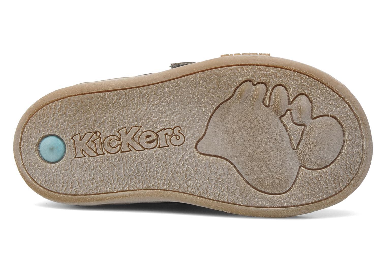 Chaussures à scratch Kickers Taxi Marron vue haut