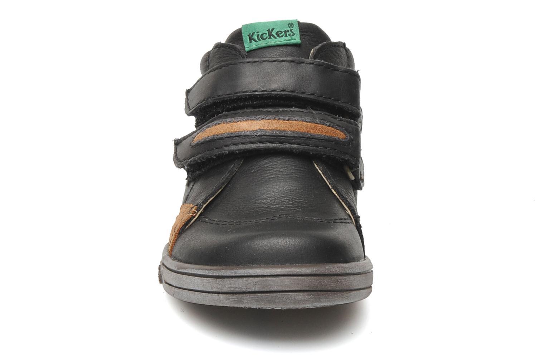 Chaussures à scratch Kickers Taxi Noir vue portées chaussures