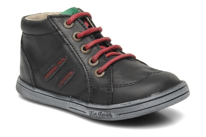 Bottines et boots Kickers Tatoo Noir vue détail/paire