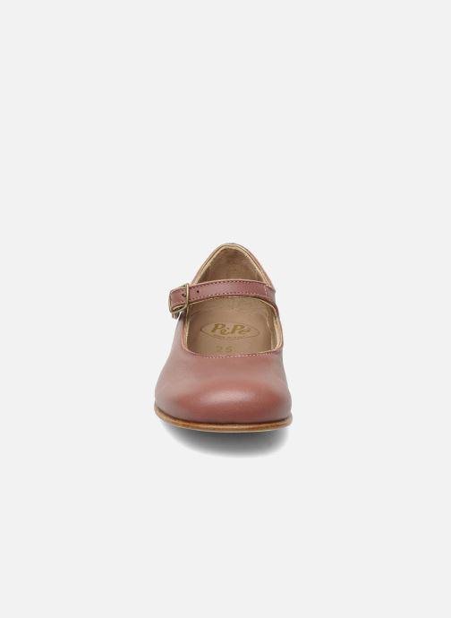 Ballerines PèPè 1216/P Rose vue portées chaussures