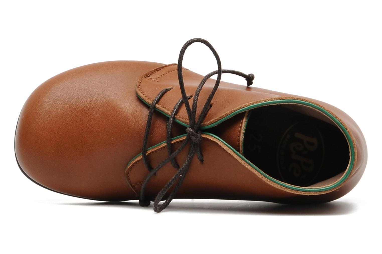 Chaussures à lacets PèPè 1200P Marron vue gauche