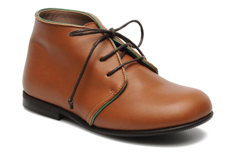 Chaussures à lacets PèPè 1200P Marron vue détail/paire