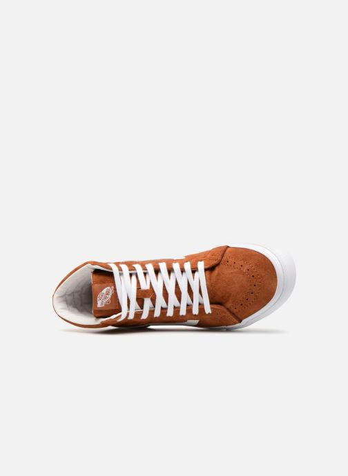 Baskets Vans Sk8-Hi Reissue Marron vue gauche