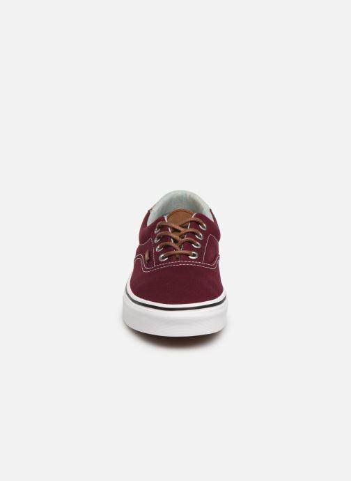 Sneaker Vans Era 59 W weinrot schuhe getragen