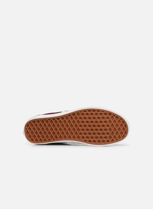 Sneaker Vans Era 59 W weinrot ansicht von oben