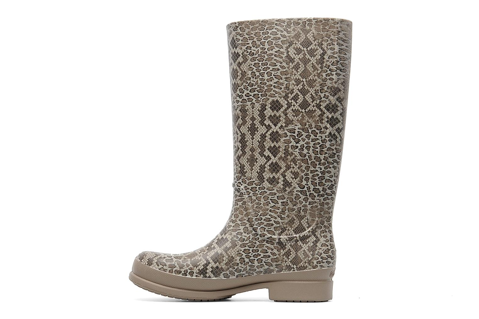 Bottes Crocs Wellie Leopard Print Boot Beige vue face