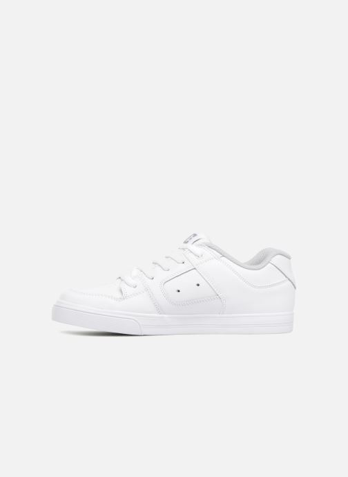 Baskets DC Shoes PURE B Blanc vue face