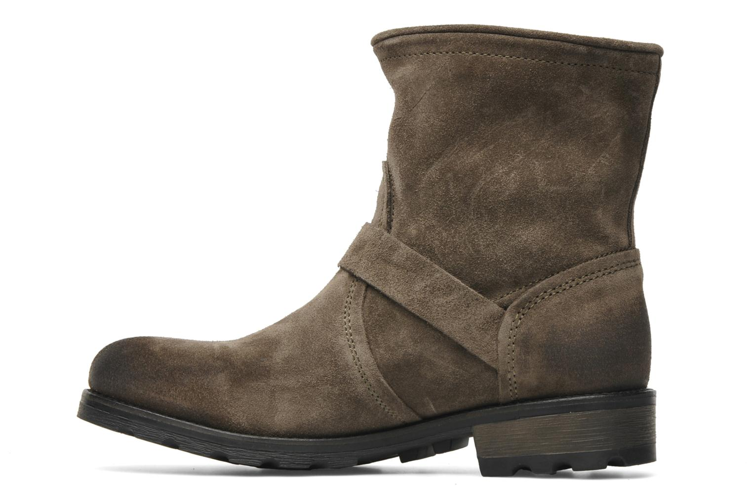 Bottines et boots P-L-D-M By Palladium Upcast Sud Gris vue face
