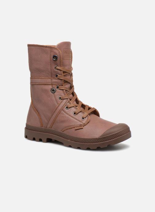Bottines et boots Palladium Pallabrousse Baggy L2 U Marron vue 3/4