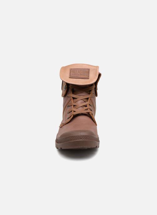 Bottines et boots Palladium Pallabrousse Baggy L2 U Marron vue portées chaussures
