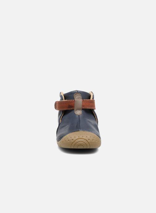Chaussures à scratch Babybotte ZAK Bleu vue portées chaussures