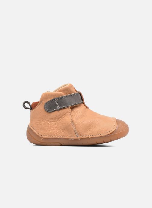 Chaussures à scratch Babybotte ZAK Jaune vue derrière