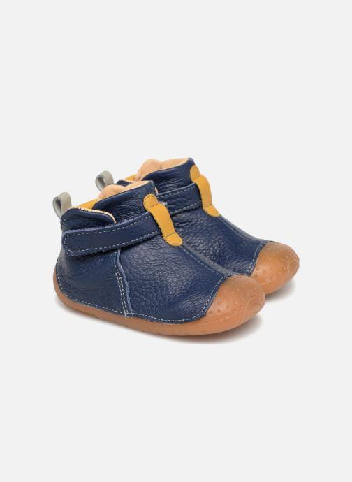 Zapatos con velcro Babybotte ZAK Azul vista 3/4