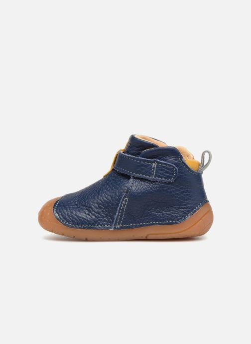 Zapatos con velcro Babybotte ZAK Azul vista de frente