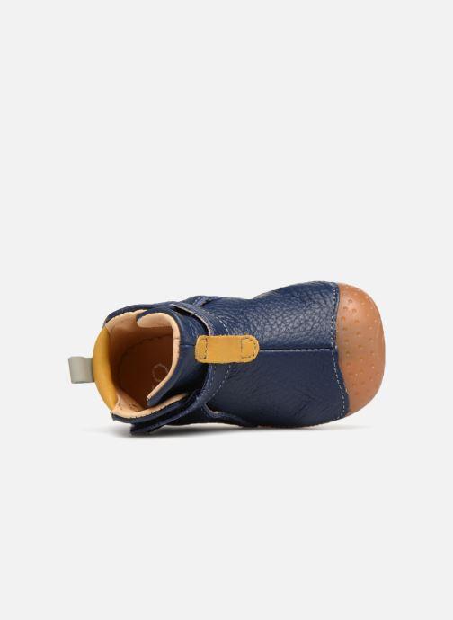 Zapatos con velcro Babybotte ZAK Azul vista lateral izquierda